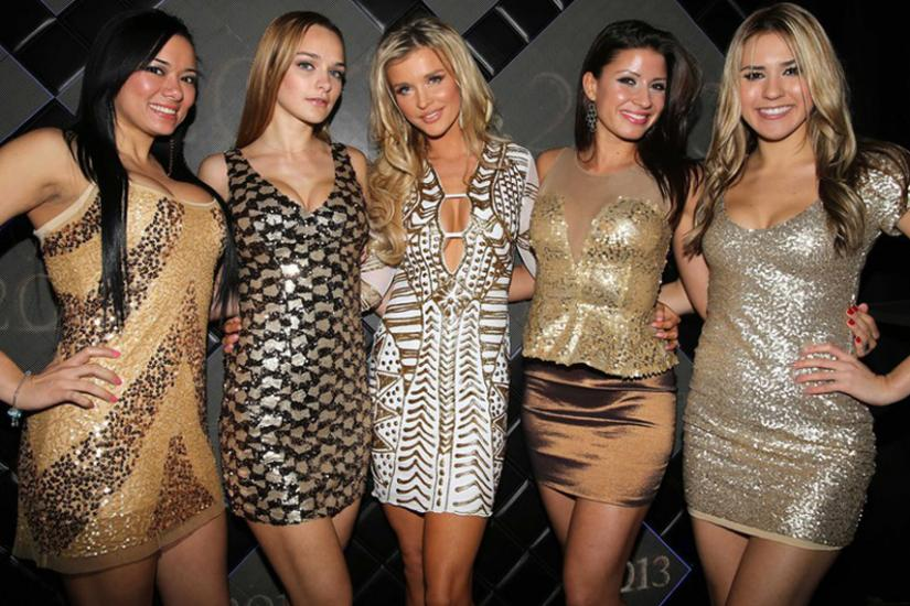 Joanna Krupa z koleżankami na imprezie Andrzejki