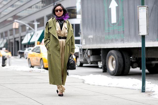 warstwowy ubiór, kolor khaki, trendy jesienne, trendy zimowe, stylizacje na jesień, stylizacje na zimę, kolor khaki, butelkowa zieleń, w militarnym stylu