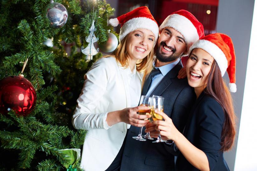 impreza świąteczna w biurze