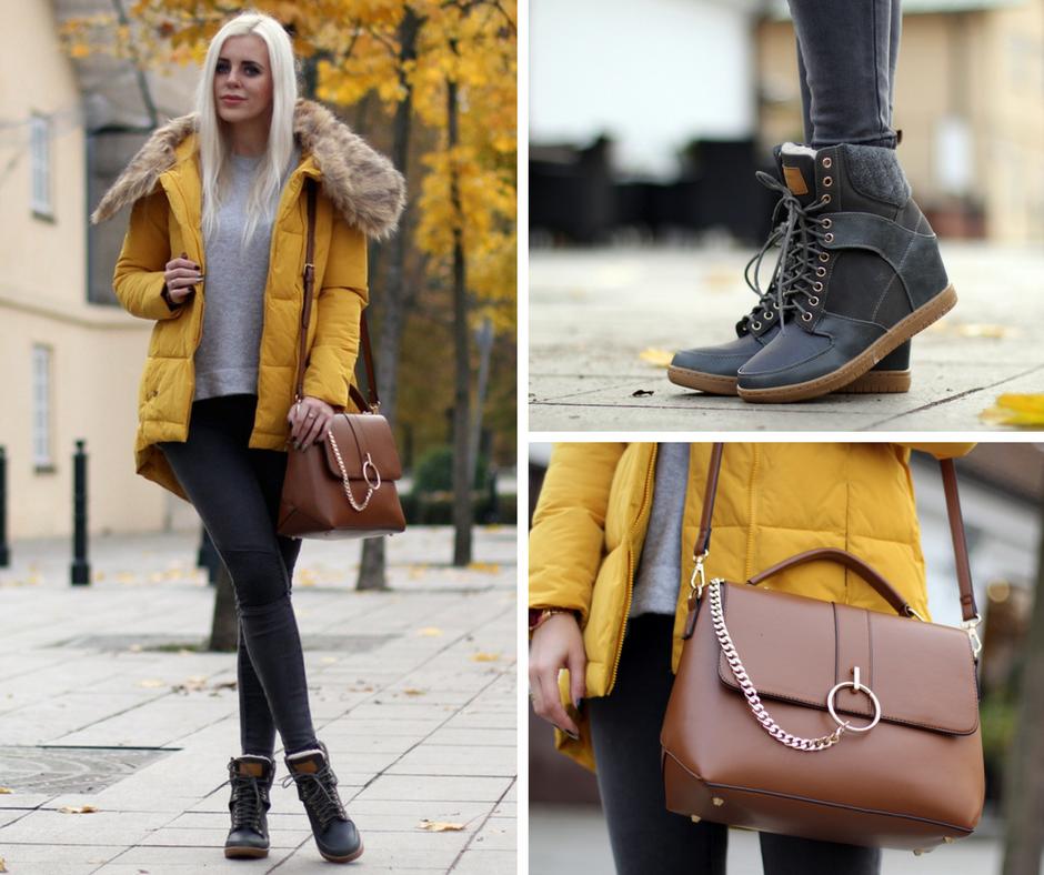 Żółta kurtka puchowa - najciekawszy element stylizacji