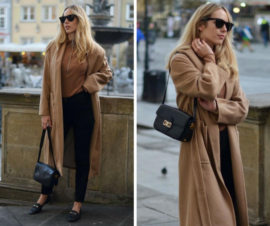 Camelowe kolory świetnie prezentują się na blondynkach