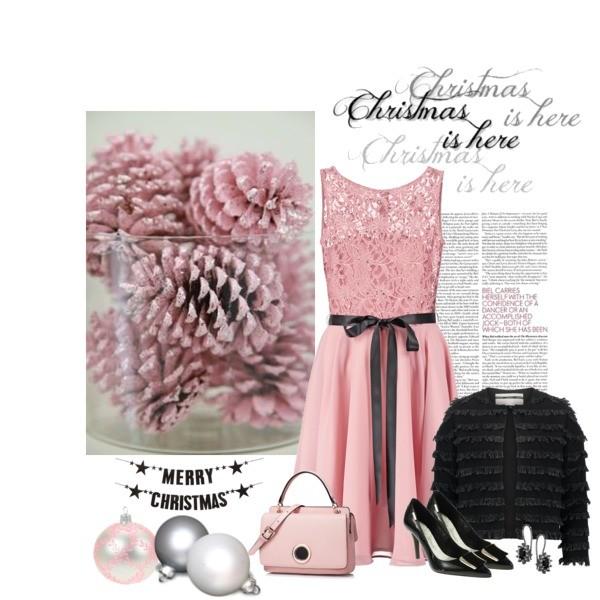 Pastelowa sukienka to idealna stylizacja na Wigilię