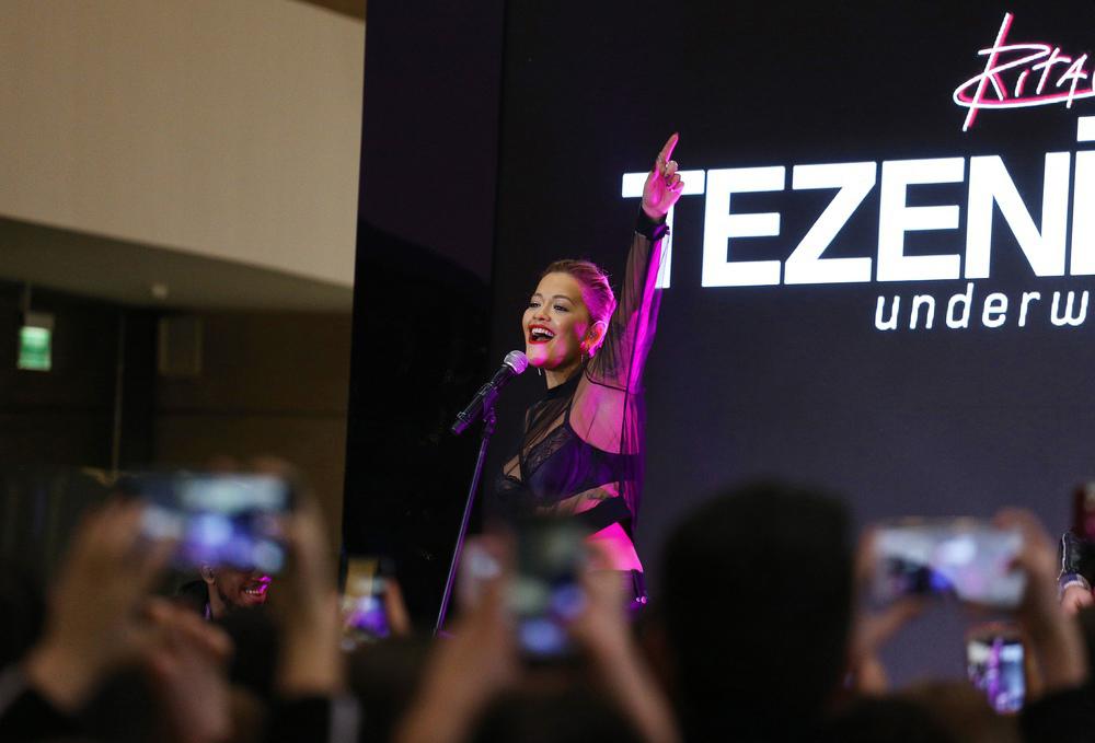 Rita Ora w warszawskiej Arkadii