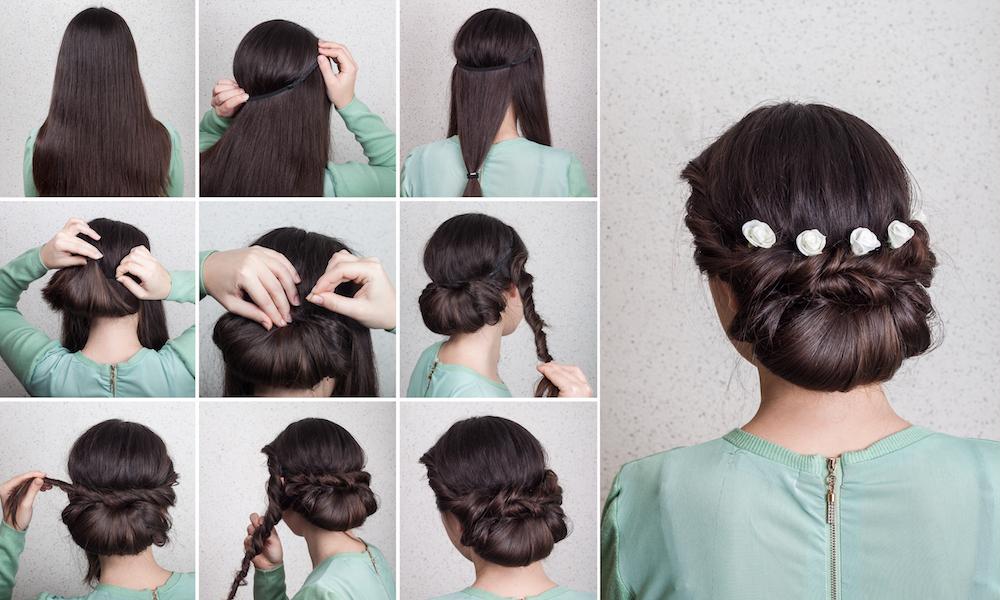 Niskiego koka możesz wykonać z pomocą opaski do włosów