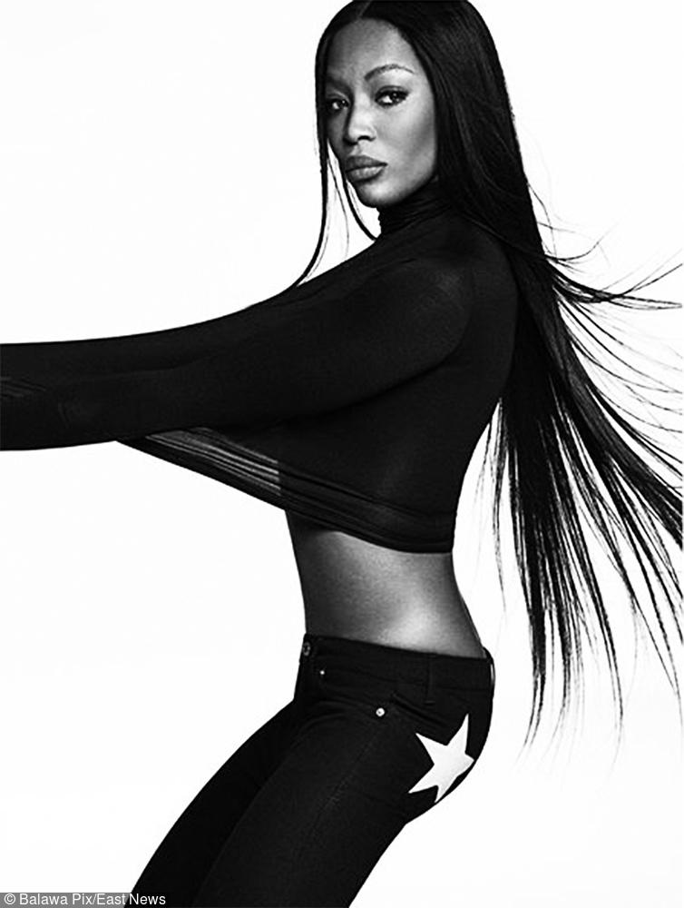 Naomi Campbell w kampanii  Givenchy Jeans wiosna-lato 2017