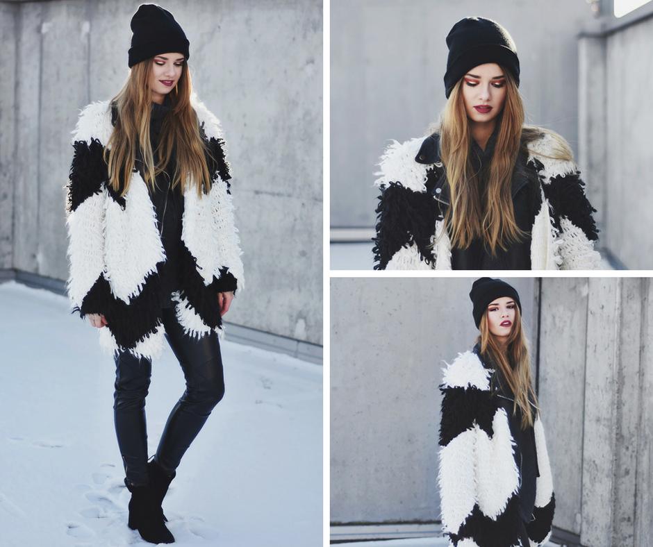 Efektowna stylizacja  w kolorach black&white