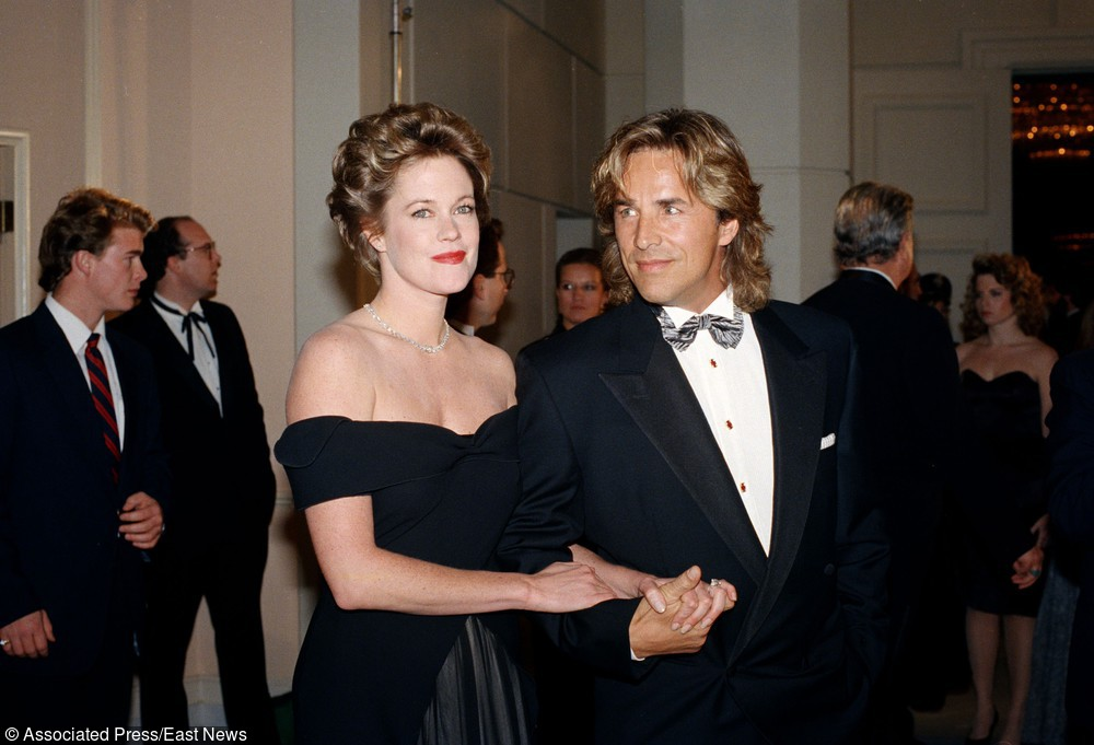 Melanie Griffith i Don Johnson w 1989