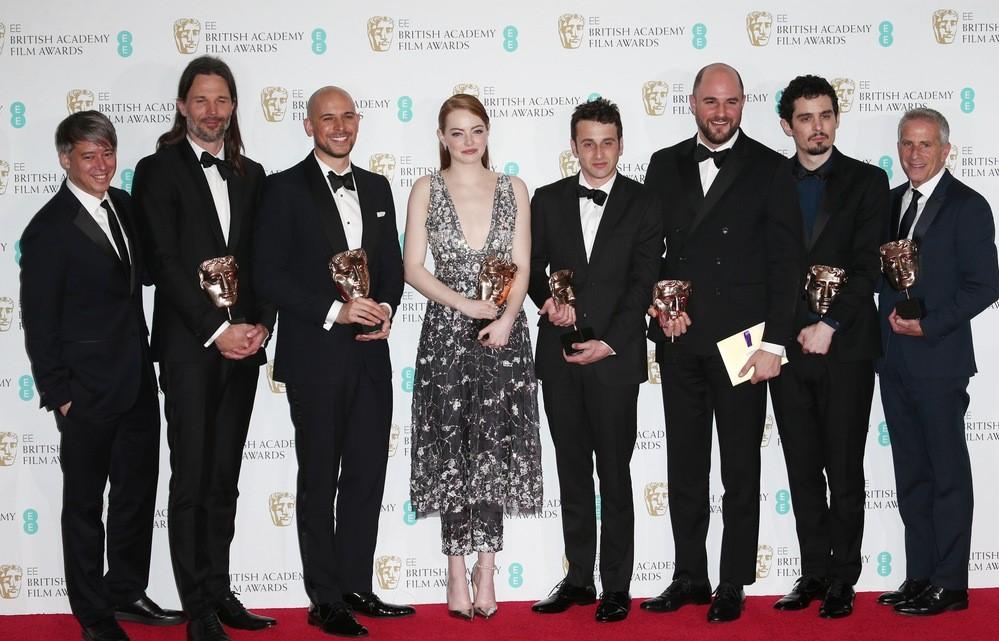 Emma Stone i nagrodzeni za film La La Land