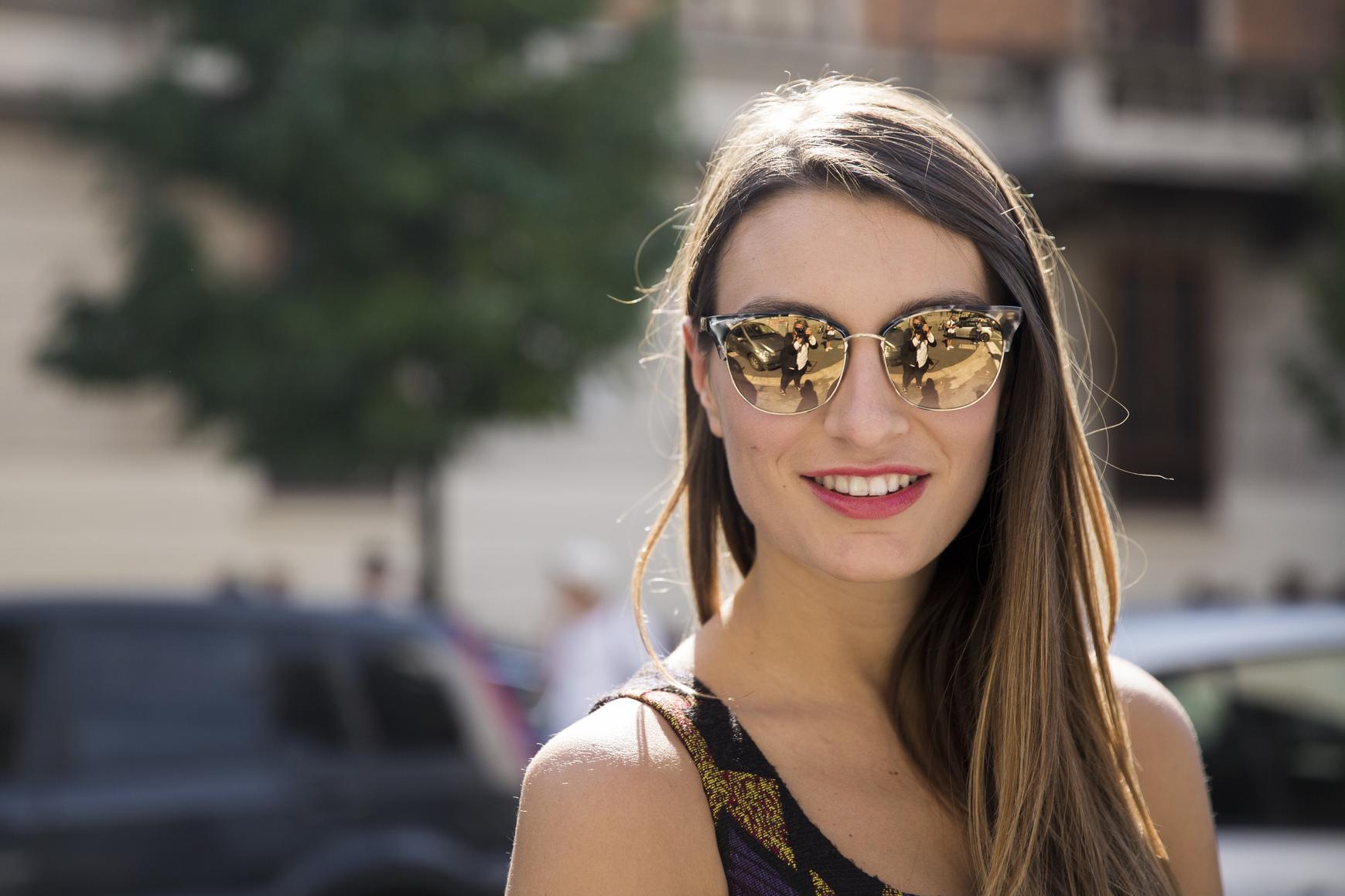 Lustrzane okulary