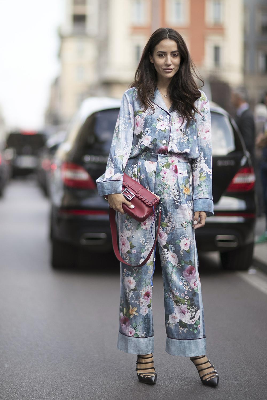 Piżamowy look