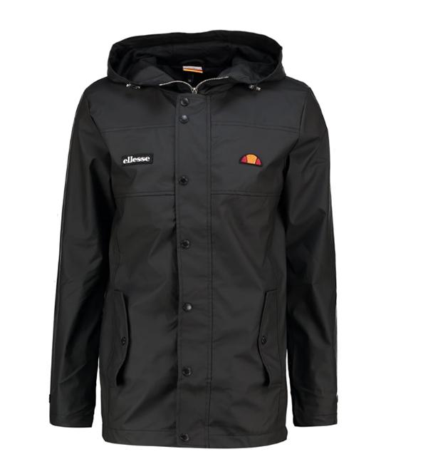 Czarna kurtka przeciwdeszczowa
