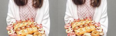 ubrania z nadrukami na jedzenie