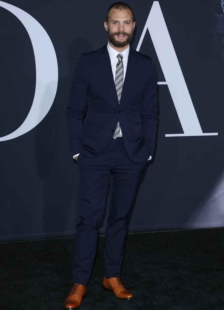 Jamie Dornan na premierze
