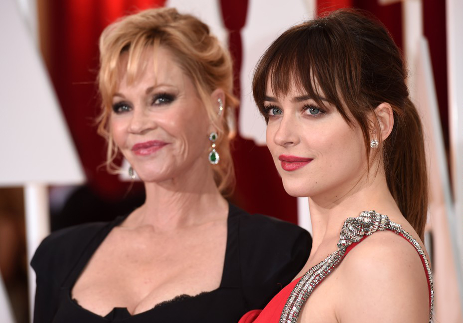 Dakota Johnson z mamą na Oscarach