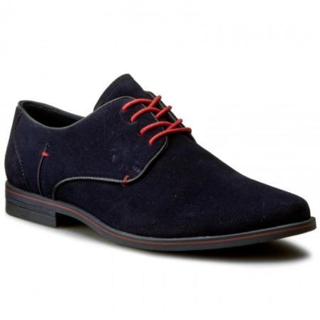 Buty ze sznurówkami w kontrastowym kolorze