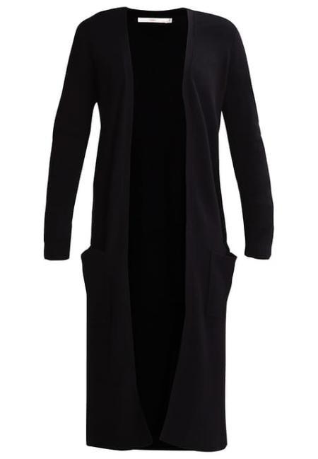 Czarny, długi sweter