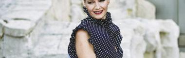 Małgorzata Kożuchowska pięknie wygląda w sukience w grochy
