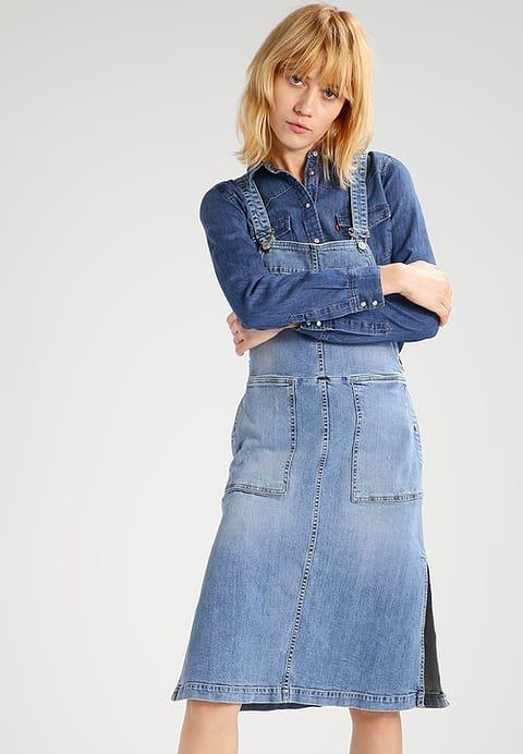Sukienka jeansowa z kieszeniami
