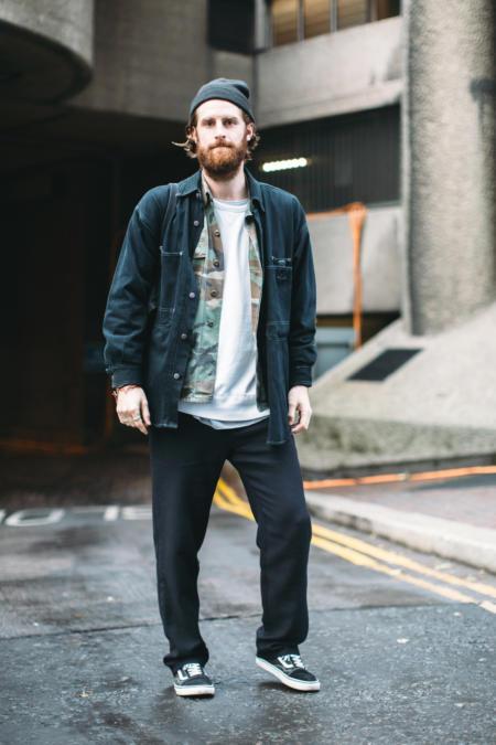 Dres i jeansowa koszula