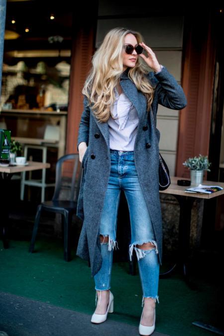 Jeansy z dziurami są modne, ale nieodpowiednie do biura