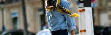 koszula jeansowa w różnych stylizacjacj