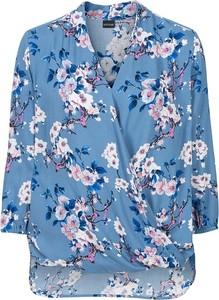 Kopertowa bluzka w kwiaty