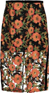 Spódnica ołówek w kwiaty