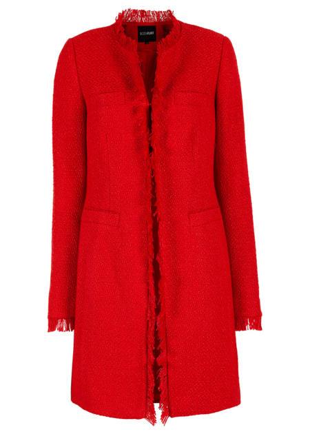 Czerwony płaszcz boucle