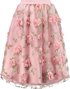 Pastelowa spódnica w kwiaty