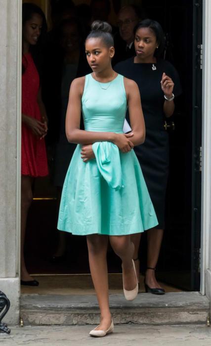Sasha Obama w Wielkiej Brytanii