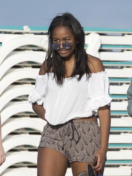 Sasha Obama na plaży
