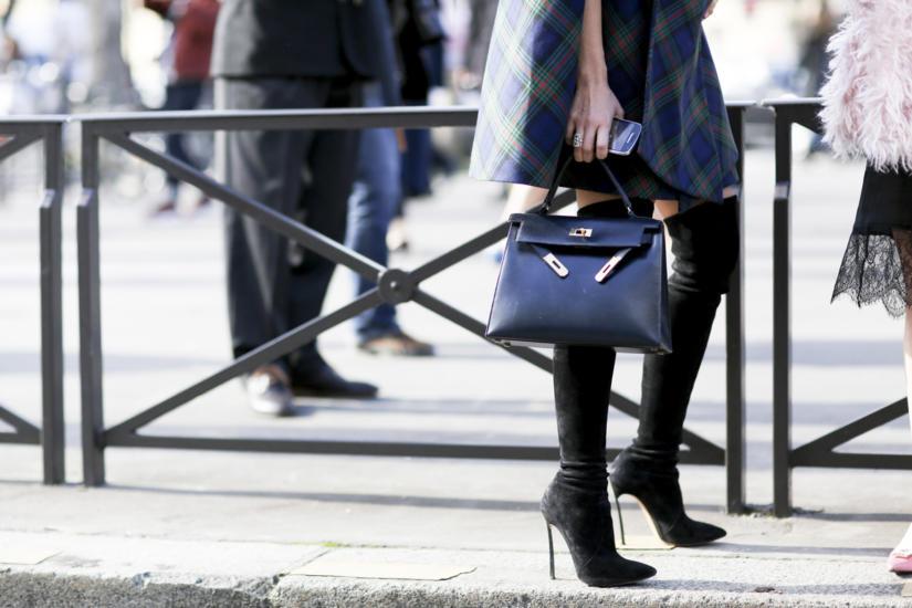 Klasyczna czarna torebka Hermèsa