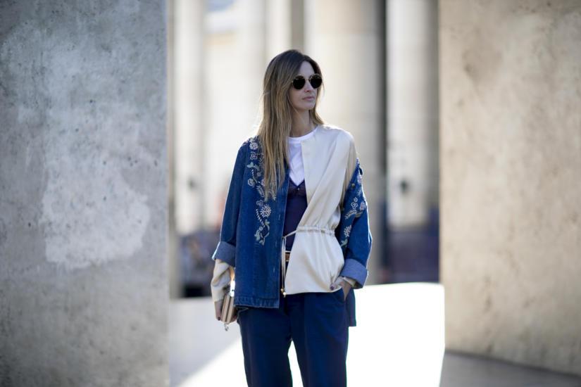 Haft na jeansowej kurtce wygląda rewelacyjnie