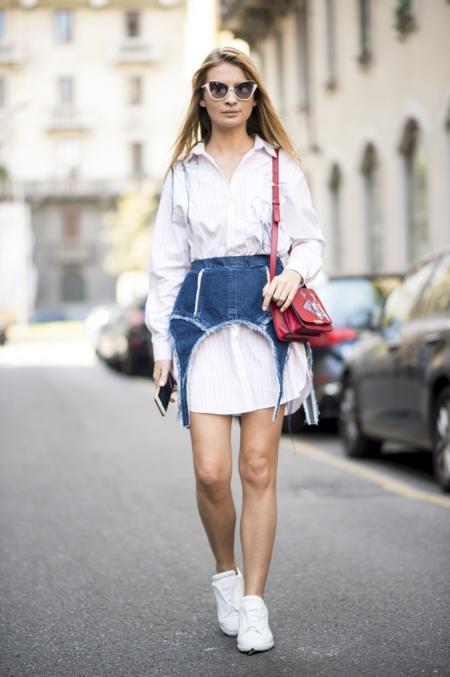 White total look uzupełnij białymi butami
