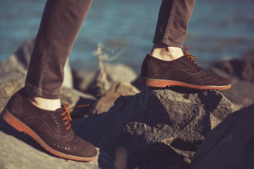 Zamszowe buty są idealne na wiosnę