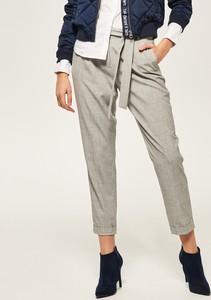 Szare spodnie z wysoką talią