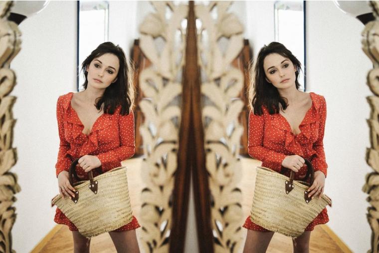 Sukienki w groszki to hit wśród blogerek