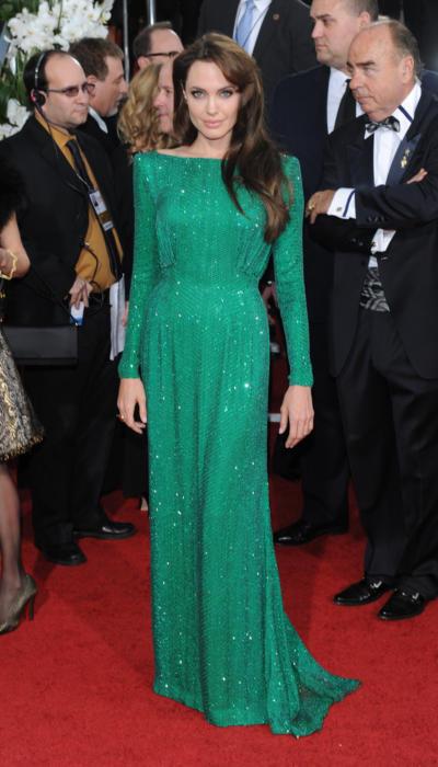 Angelina Jolie w zielonej sukni