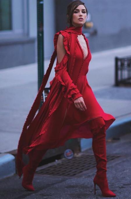 Olivia Culpo w sukience od Magdy Butrym