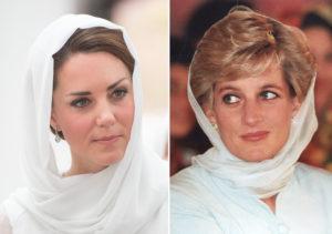 Księżna Kate i Diana