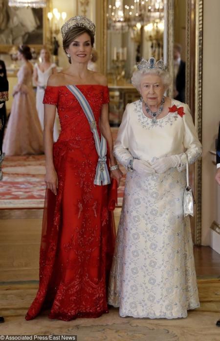 Królowa Letycja i Elżbieta II
