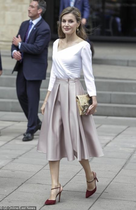 Królowa Letycja podczas wizyty w Oxfordzie