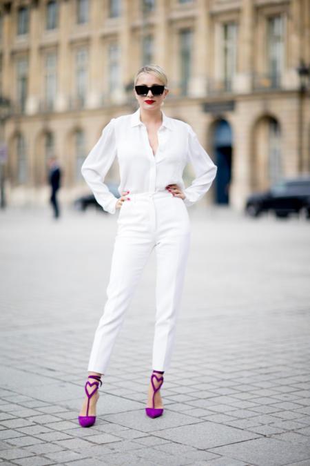 Białe spodnie + koszula