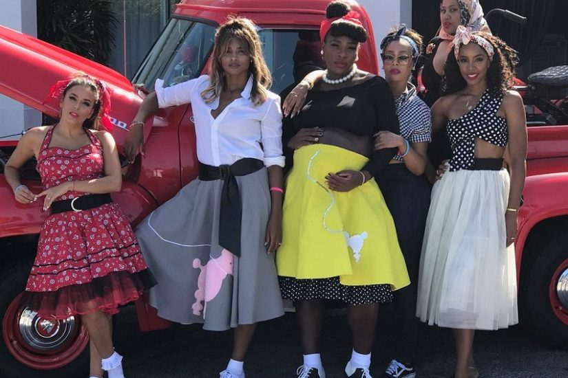 serena williams urządza baby shower