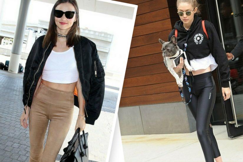 Miranda Kerr i Gigi Hadid w legginsach