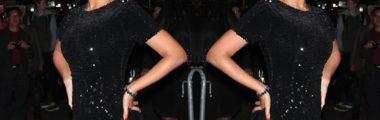 Beyonce na wielkie wyjścia wybiera małą czarną cekinową sukienkę