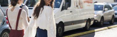 biała, damska koszula