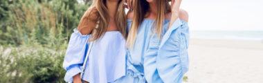 Kombinezony w colorize baby blue są bardzo modne tego lata