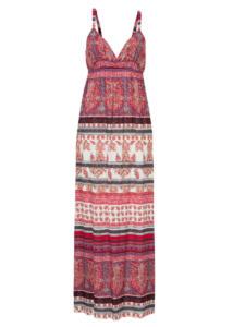 długa sukienka w print