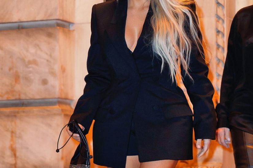 Kim Kardashian do marynarki nie zakłada spodni